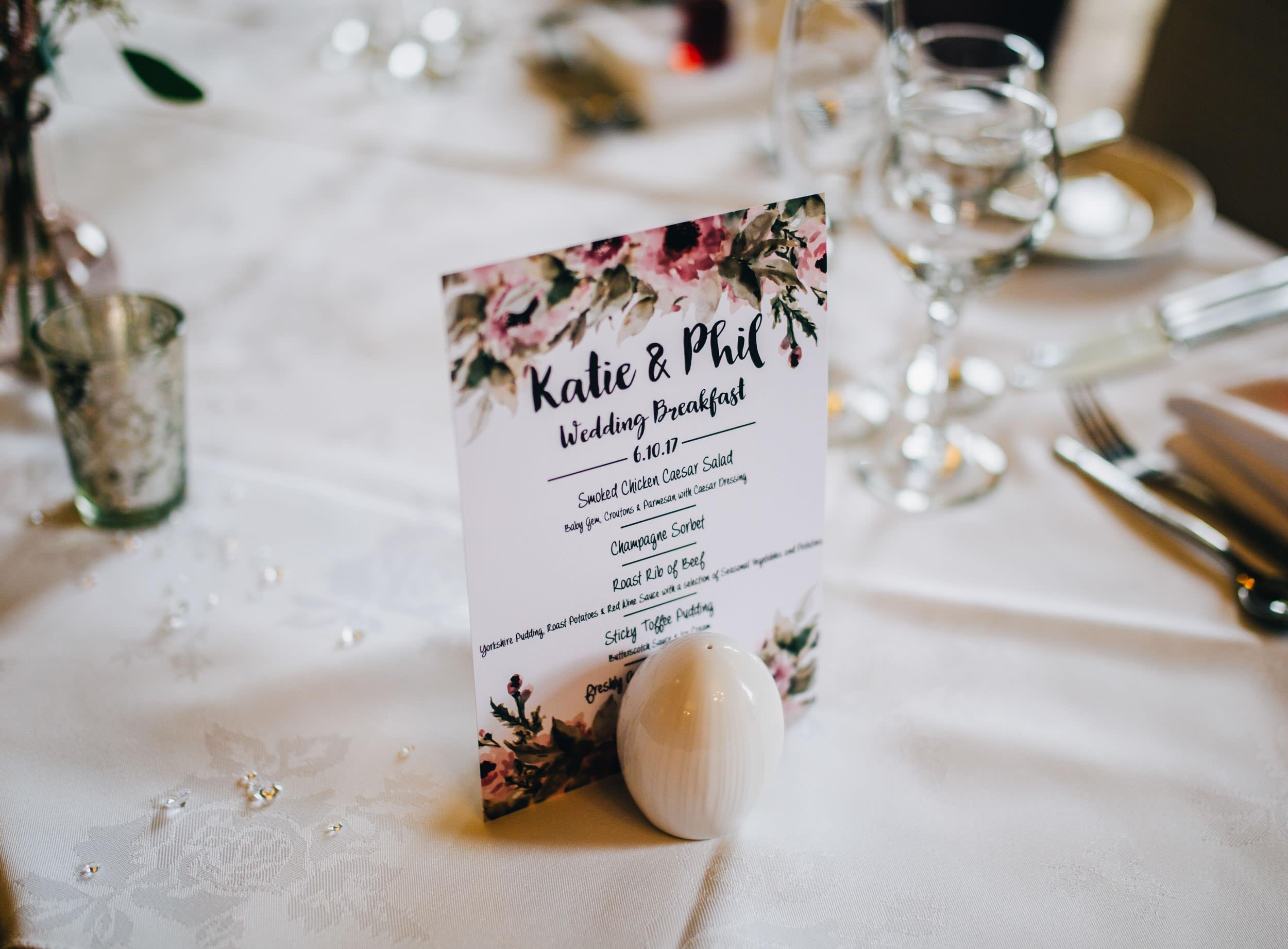 botanical themed wedding decor