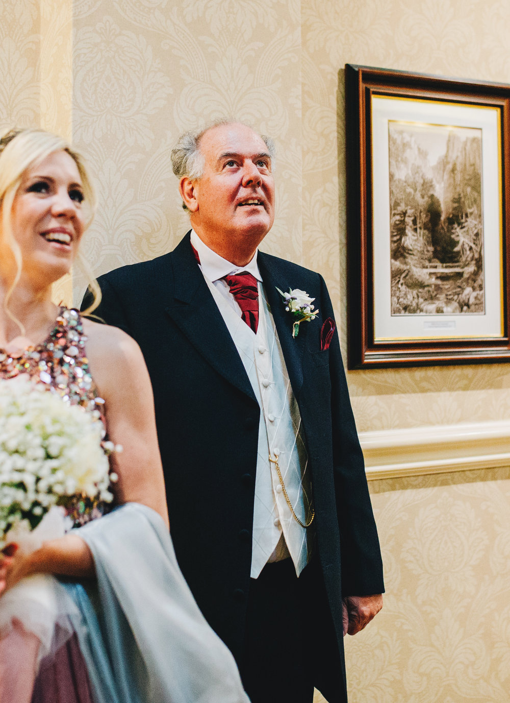 dad waiting for the bride