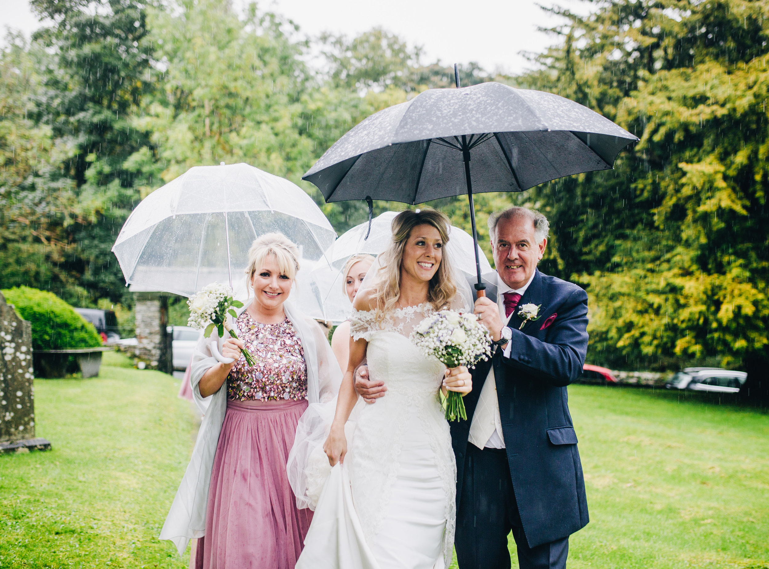 rainy wedding day in the Lakes