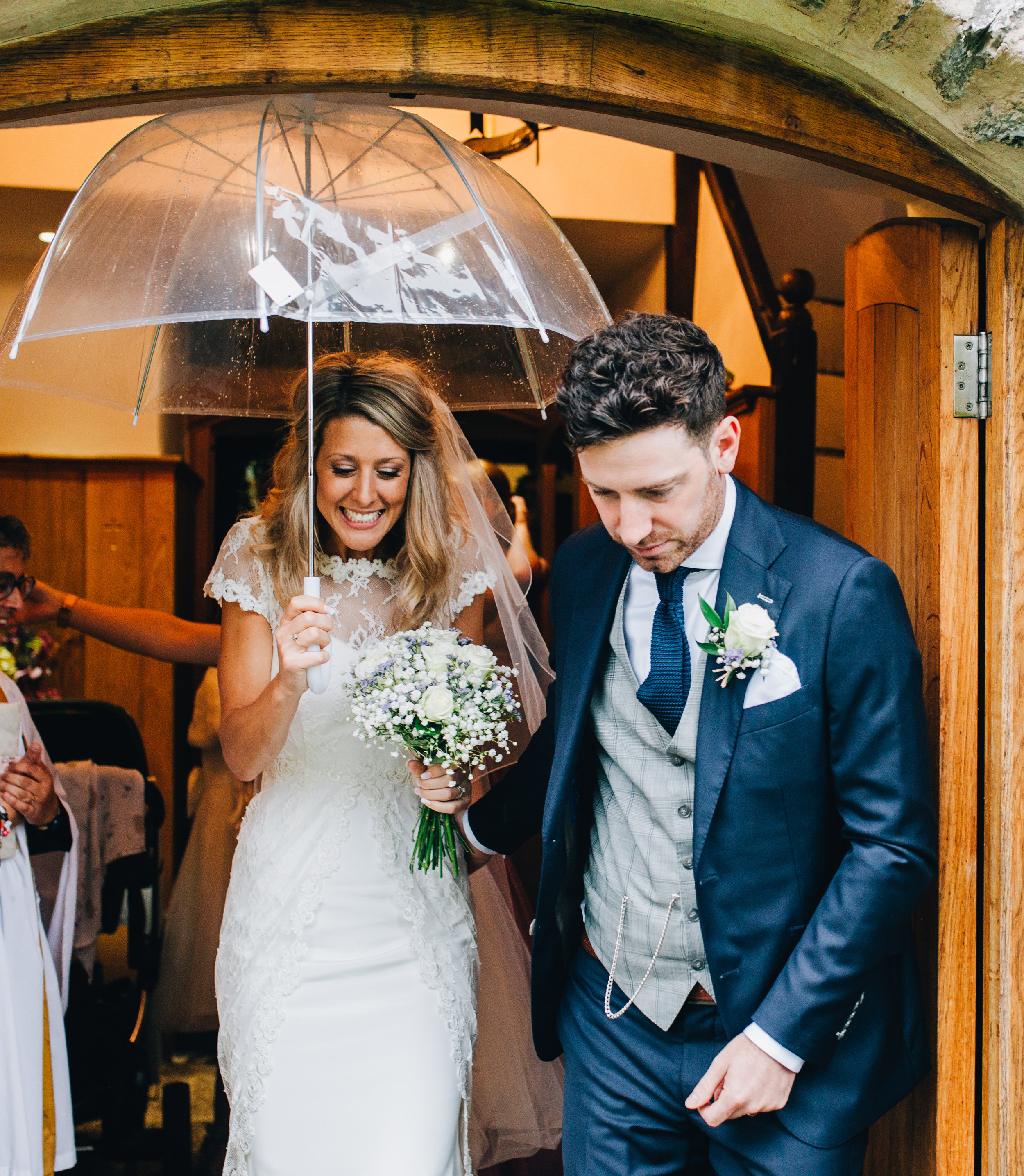 rainy wedding in the Lake District