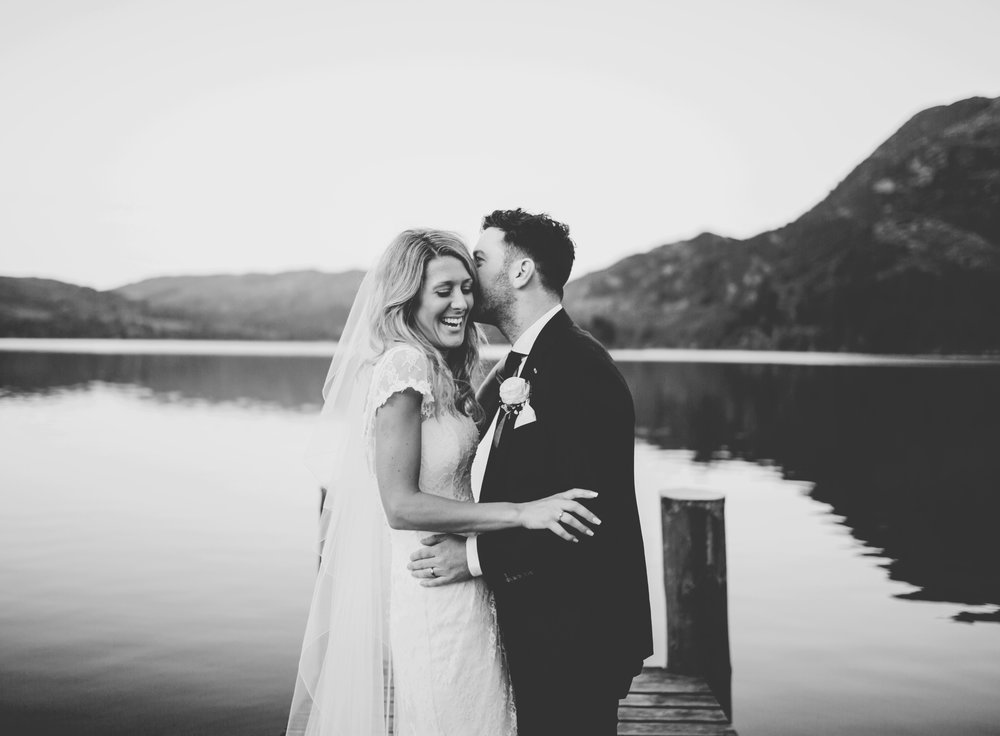 Lake District wedding pictures - bride and groom
