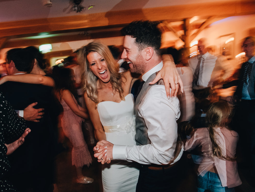 Lake District wedding photography - dance floor bride and groom