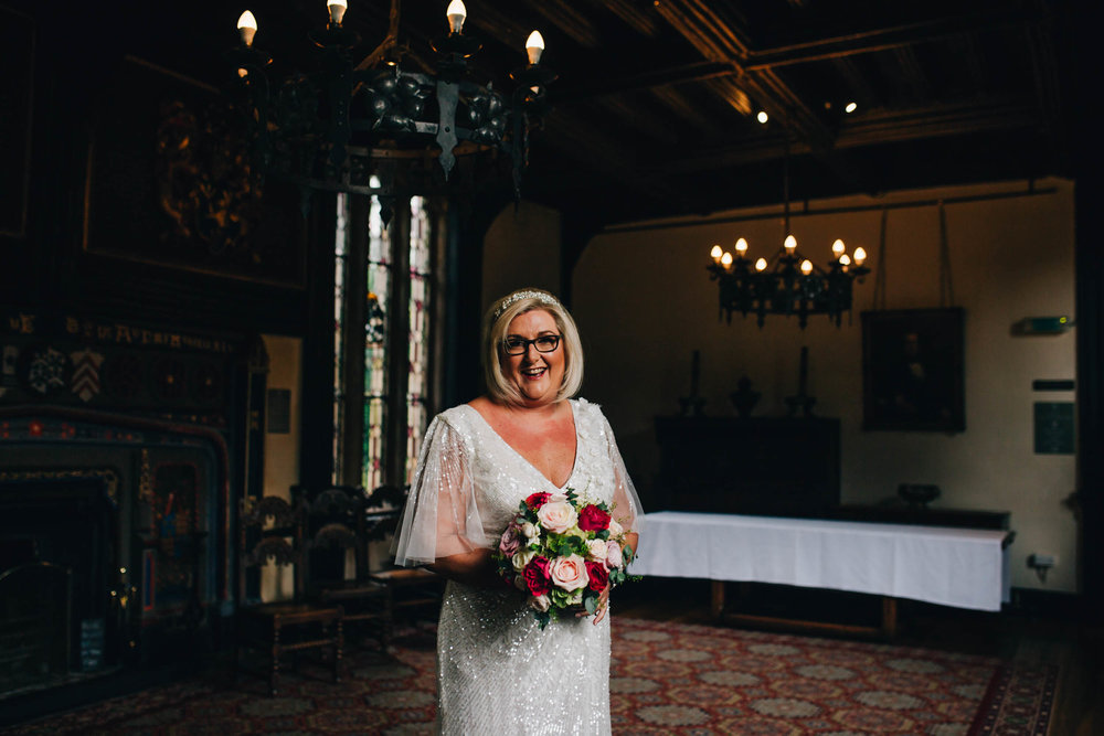 portrait of bride - wedding photography in lancashire