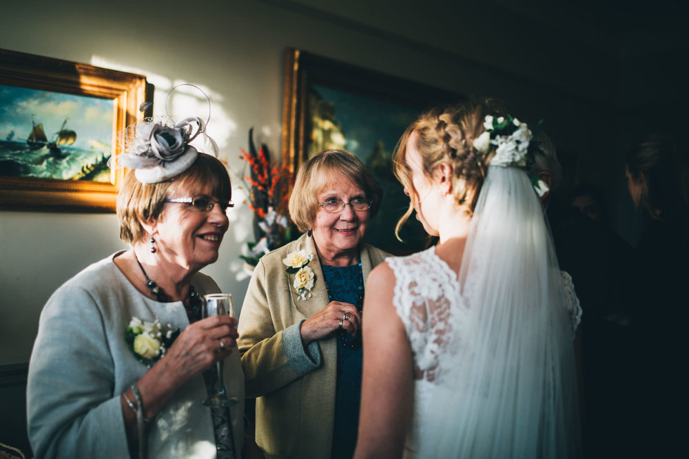 documentary shots of the wedding reception - Ryebeck hotel