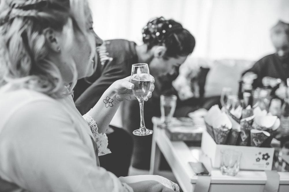 black and white image at styal lodge - Cheshire wedding photography
