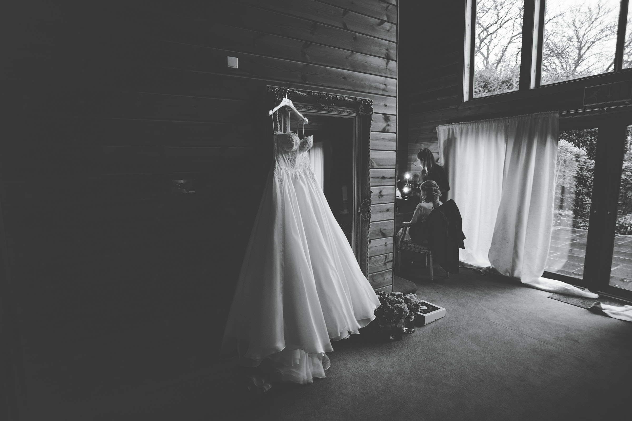 Wedding dress at Styal Lodge in Cheshire