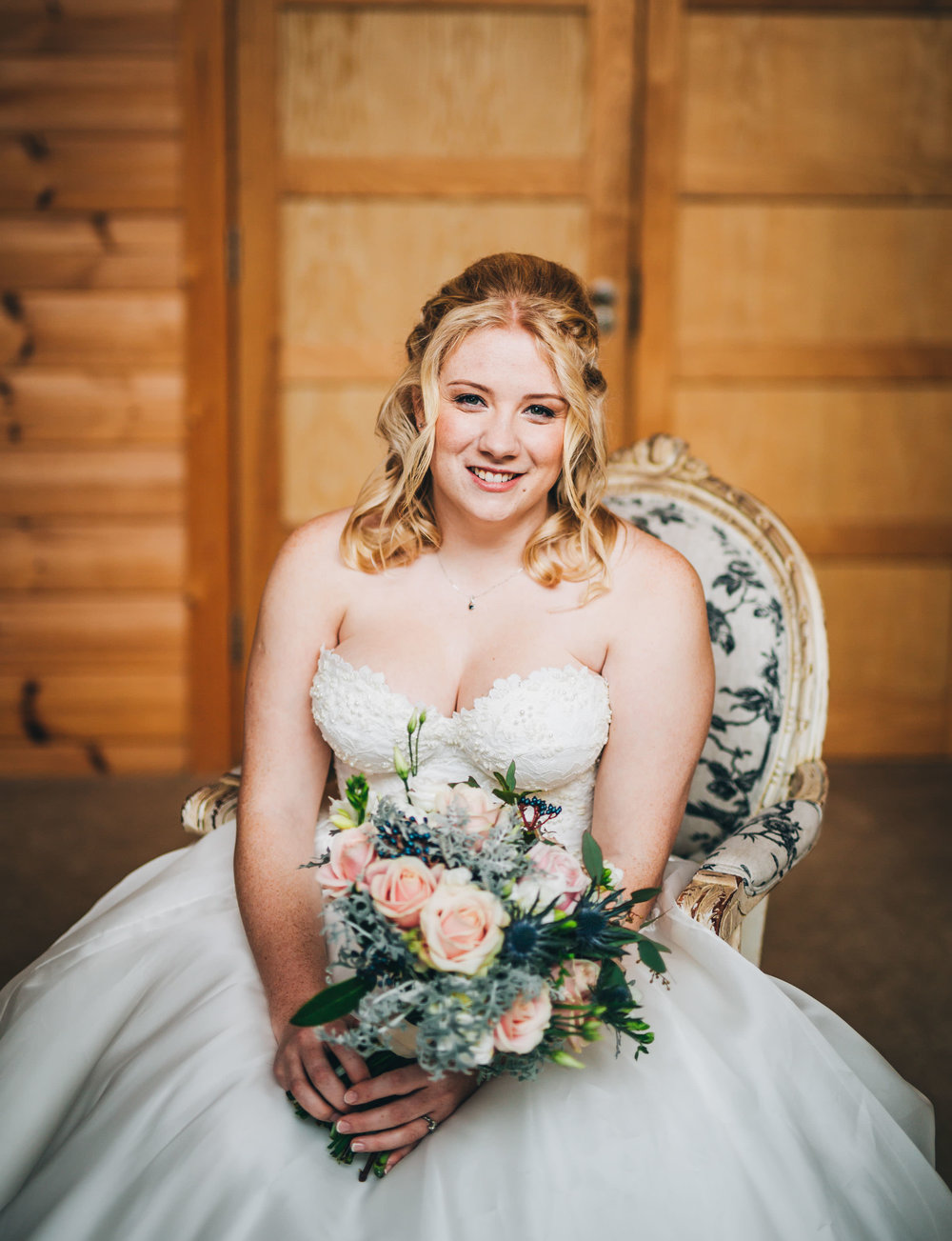 portrait of the bride at Styal lodge