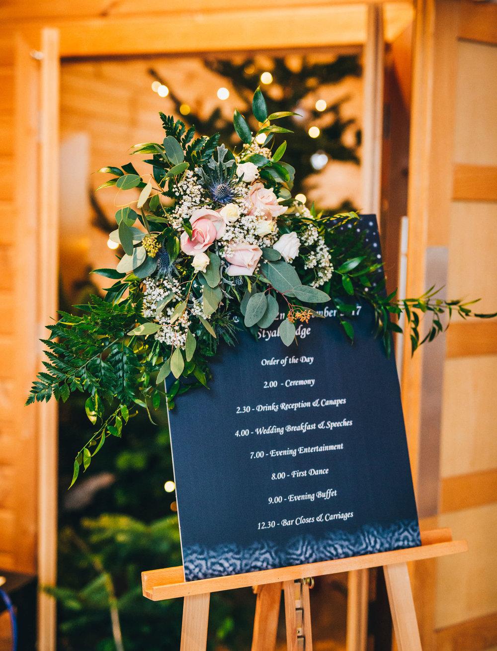 table plan at styal lodge wedding