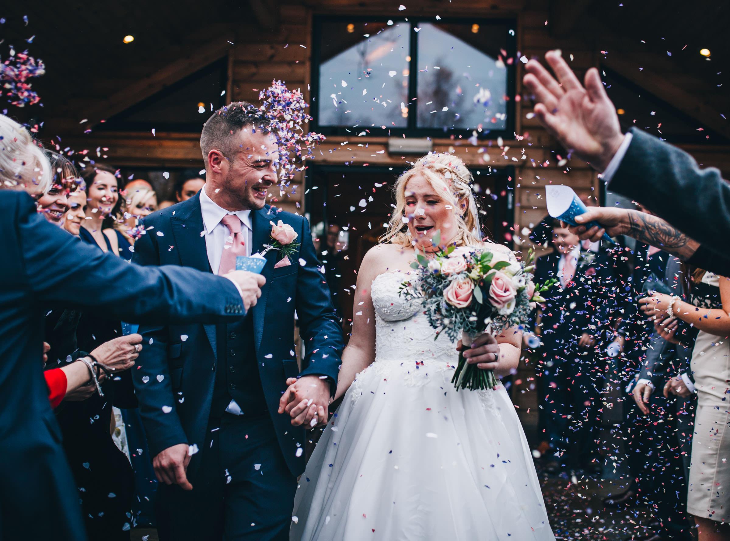 fun wedding confetti cheshire