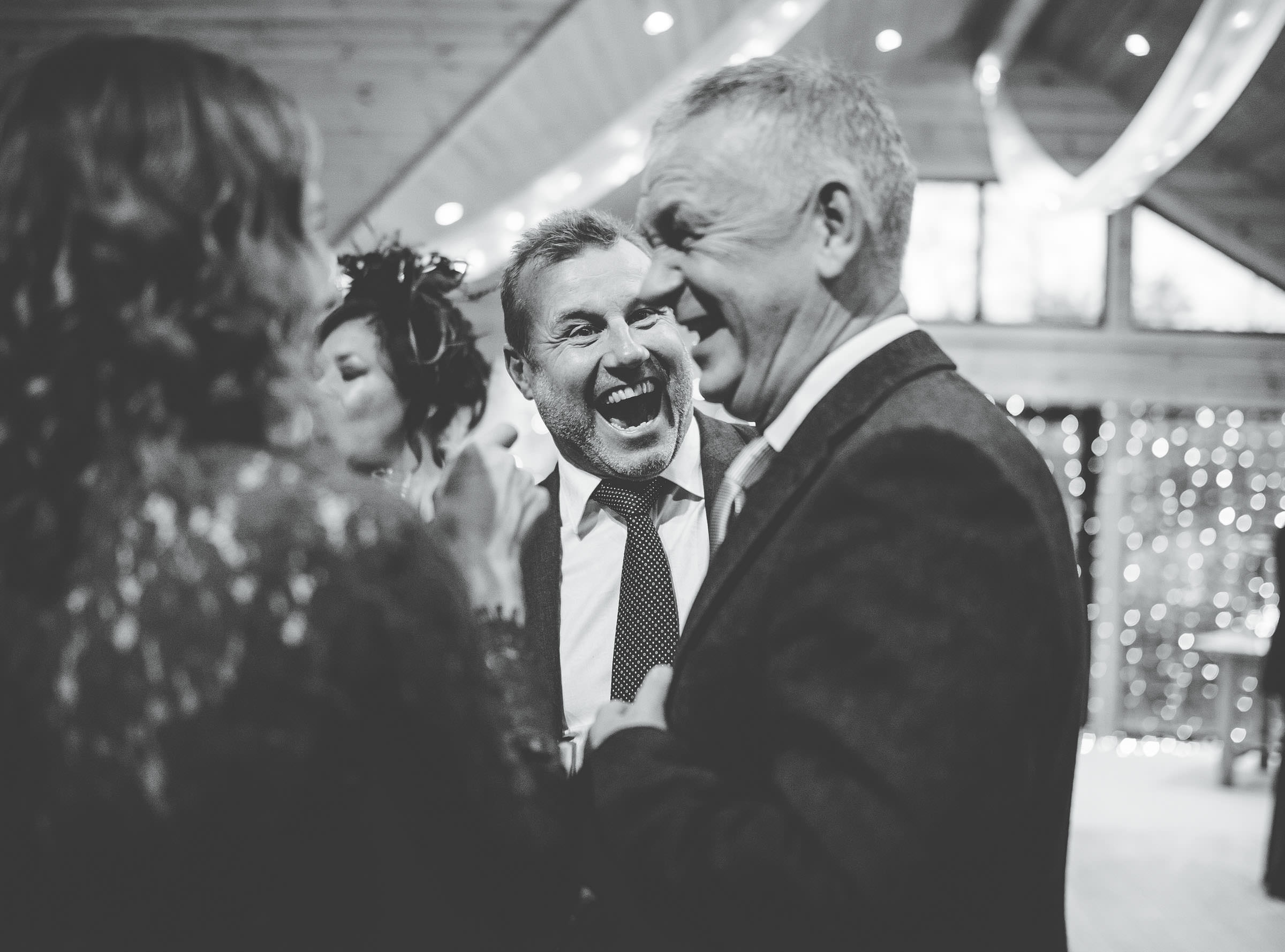 laughing guests - quirky and fun wedding