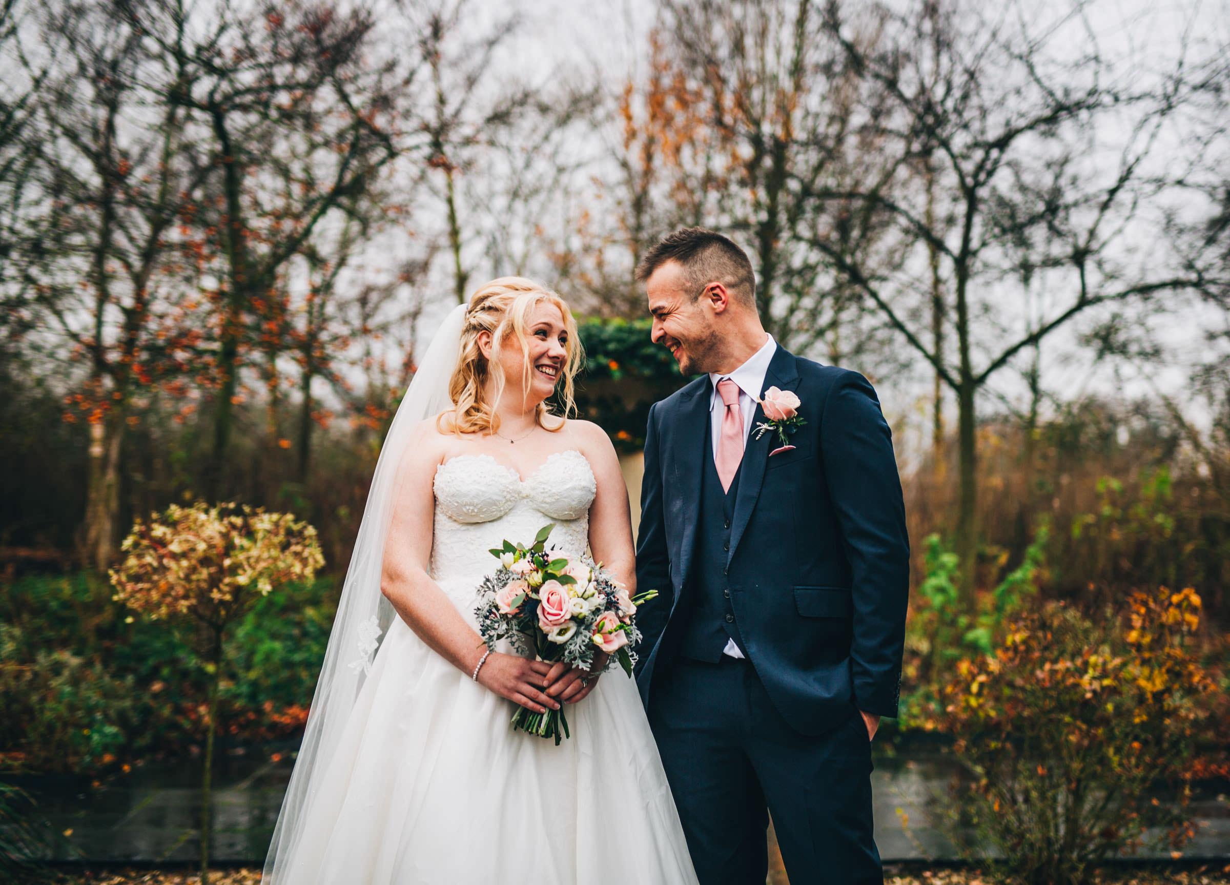 fun and quirky wedding photography - bride and groom