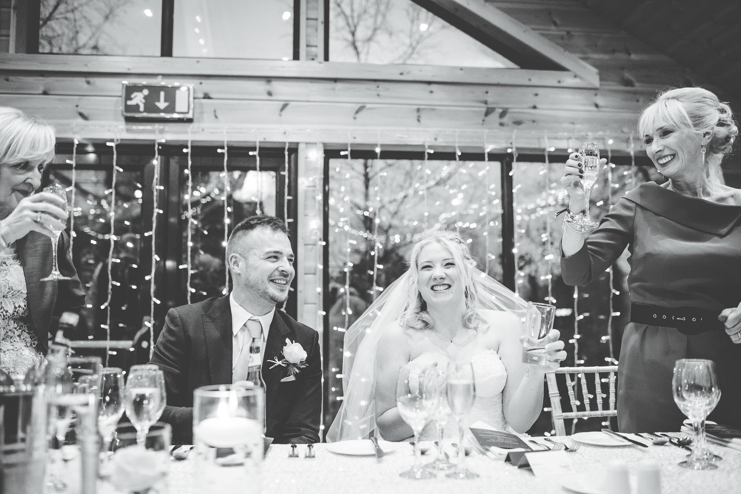 cheers! Speeches at Cheshire wedding