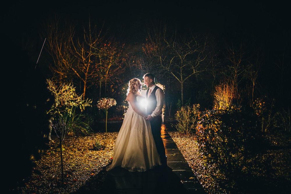 creative lighting portraits  - winter wedding photographer