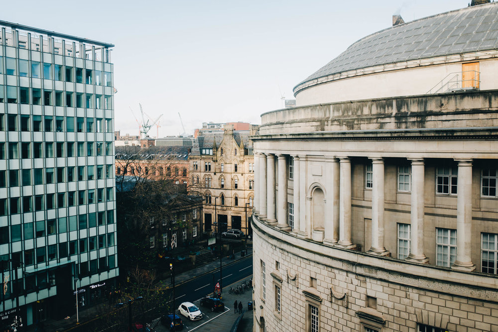 view from the bridal suite - Manchester wedding photographer