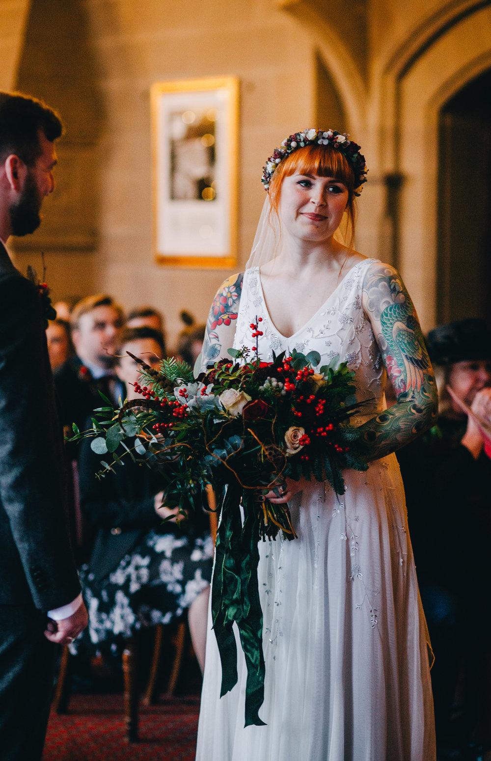 wedding ceremony at Manchester town hall - Rachel Joyce photography