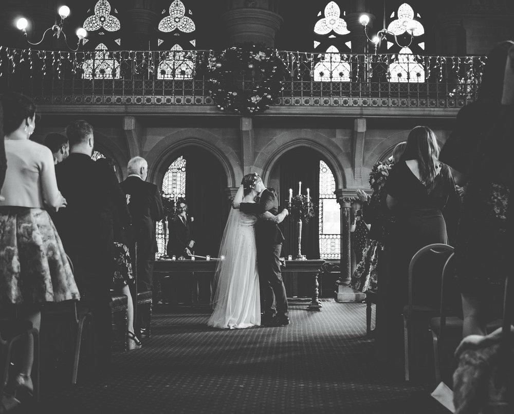 first kiss  - wedding photography Manchester