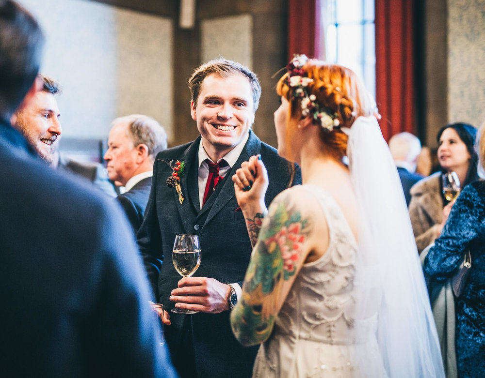 laughter and fun times at Manchester wedding