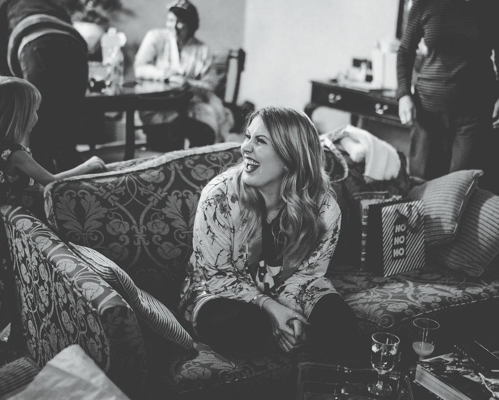 smiling bridesmaid - documentary wedding photographer Manchester