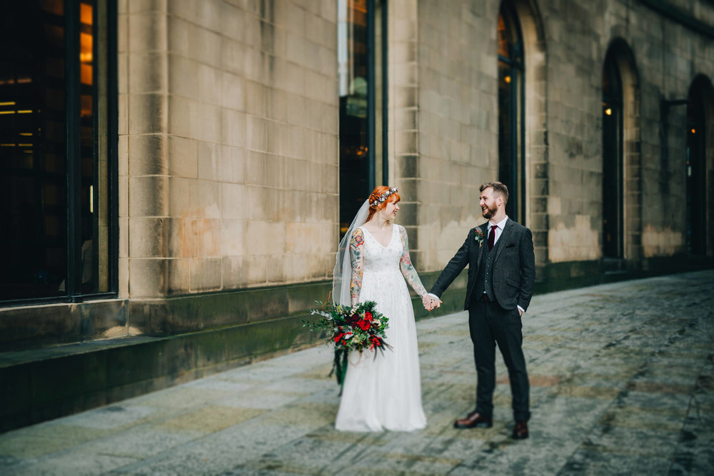 Manchester City wedding - cool portraits