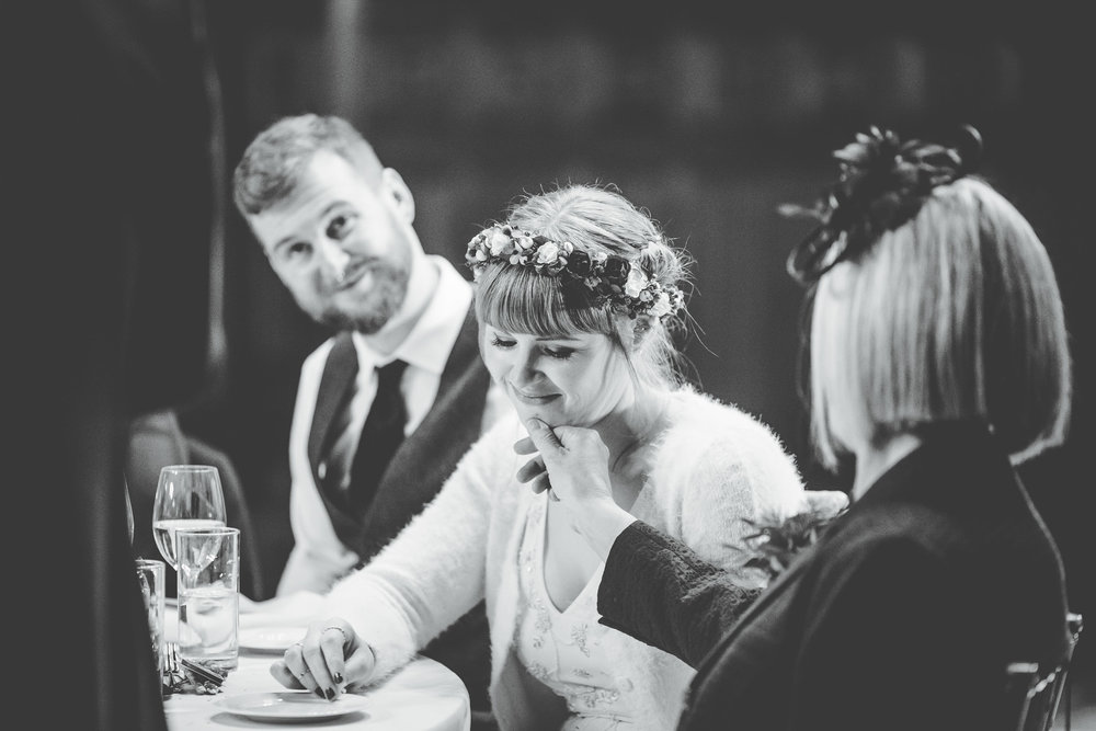 mum and bride - emotional moment
