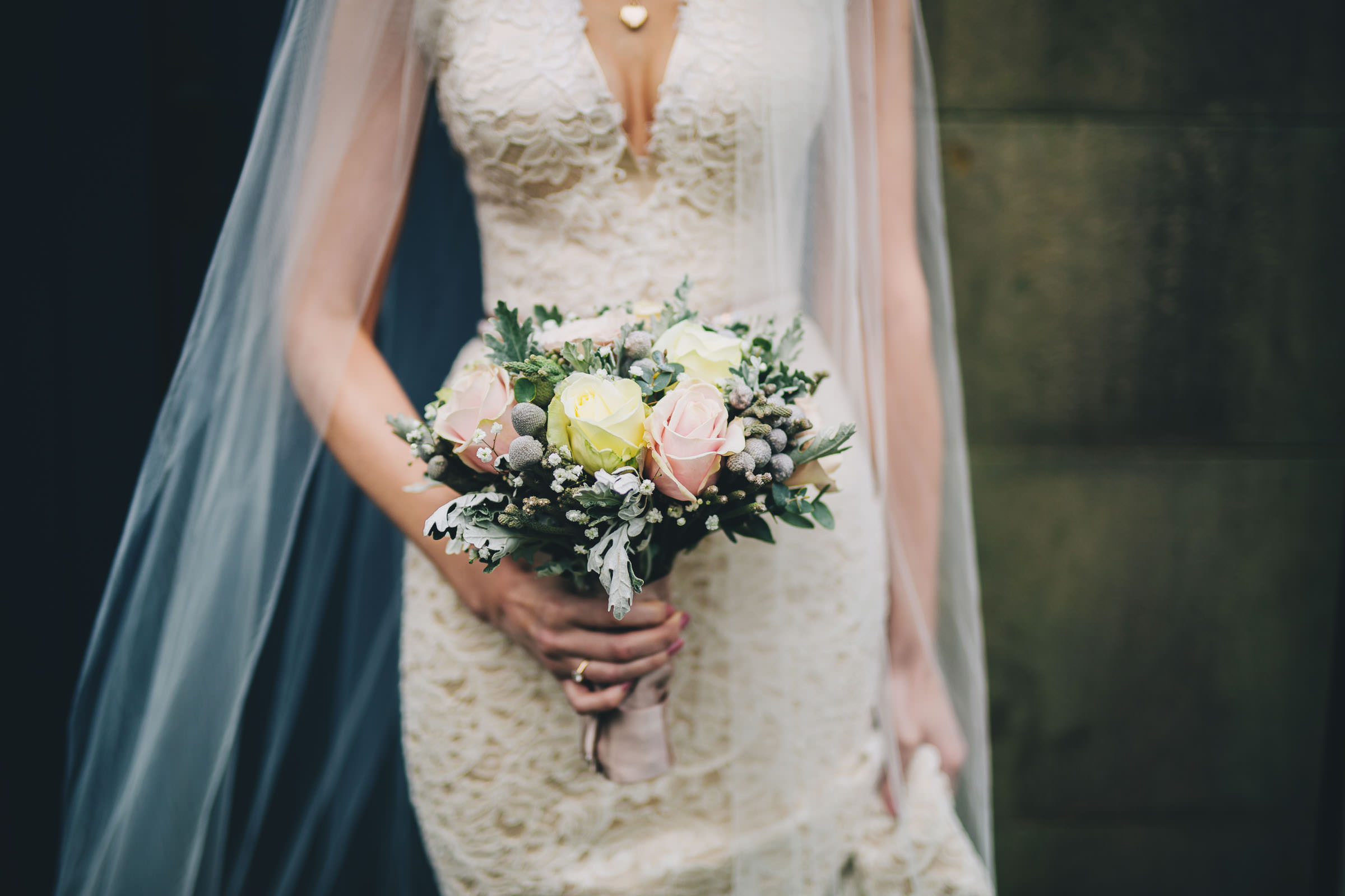 Close up of bride's bouquet - Combermere Abbey Wedding