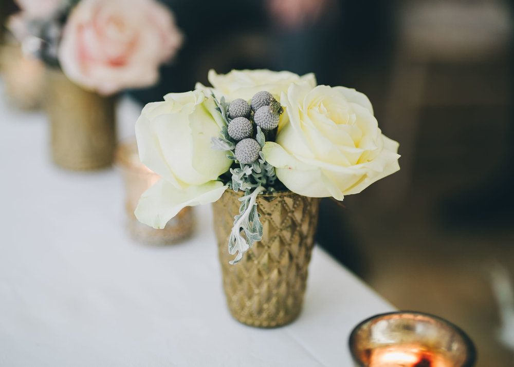 Winter wedding flowers. A wedding at Combermere Abbey. Creative wedding photographer.