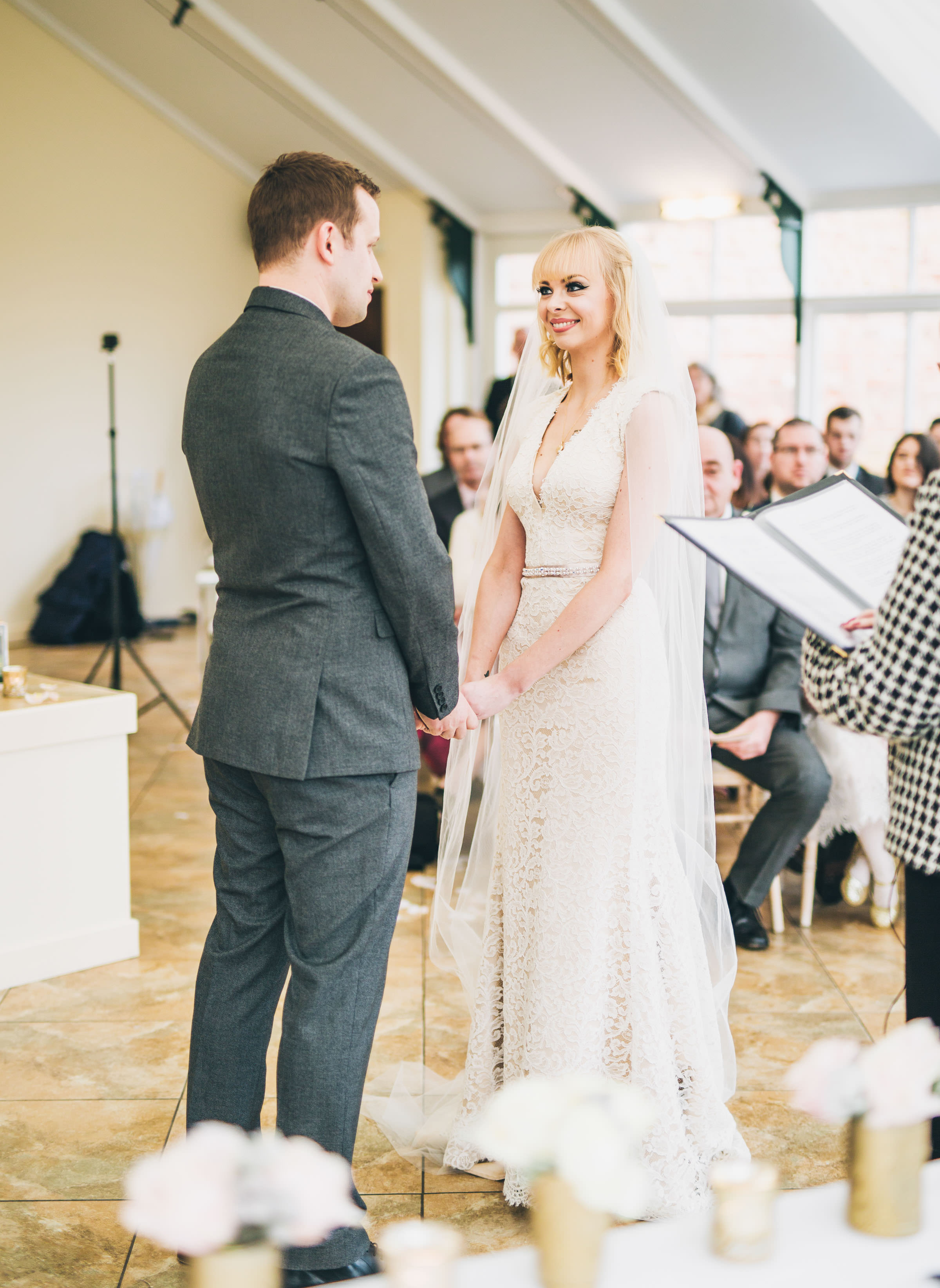vow exchange at Combermere Abbey Shropshire