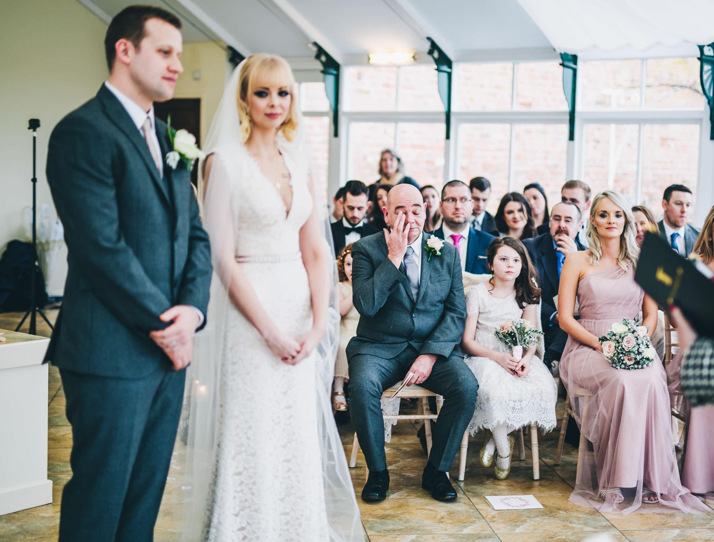 emotional dad - wedding ceremony