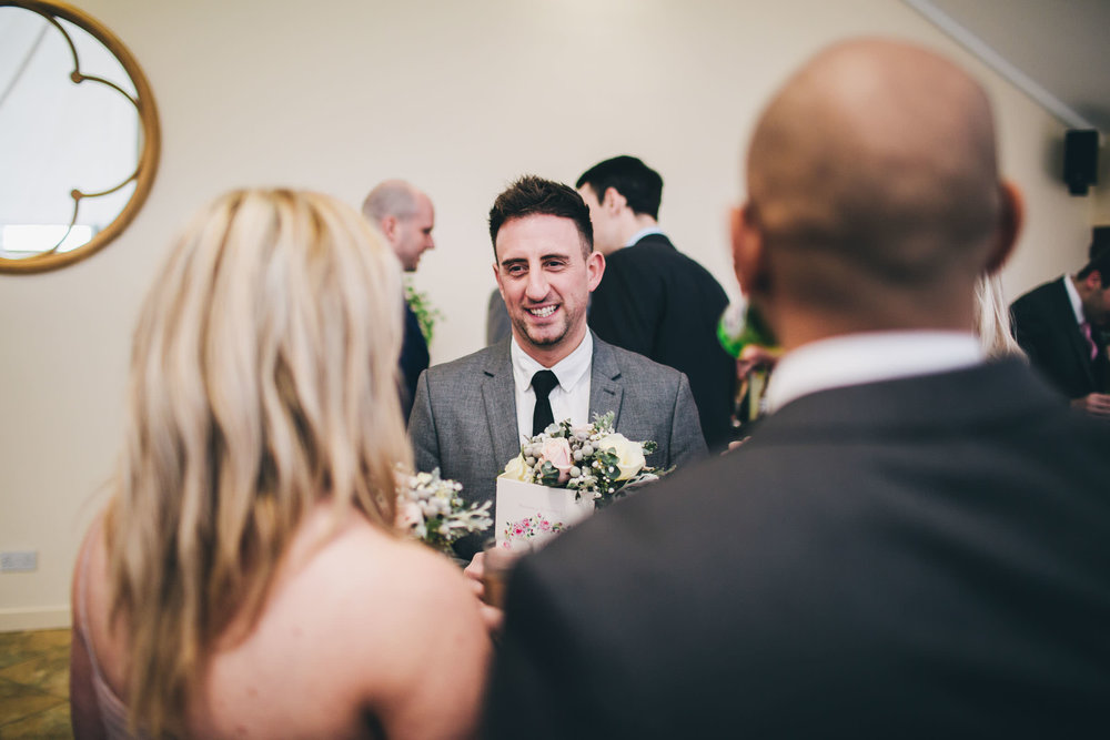 Smiles from the wedding guests. Shropshire wedding photographer.