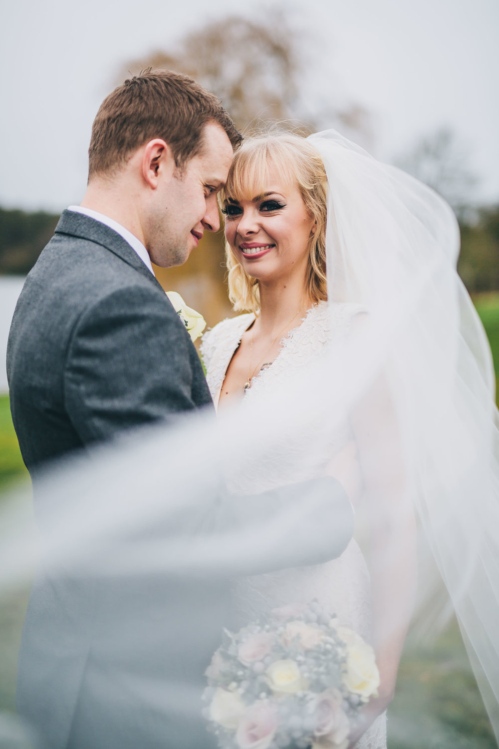 The bride and groom portraits. Combermere Abbey for a wedding.