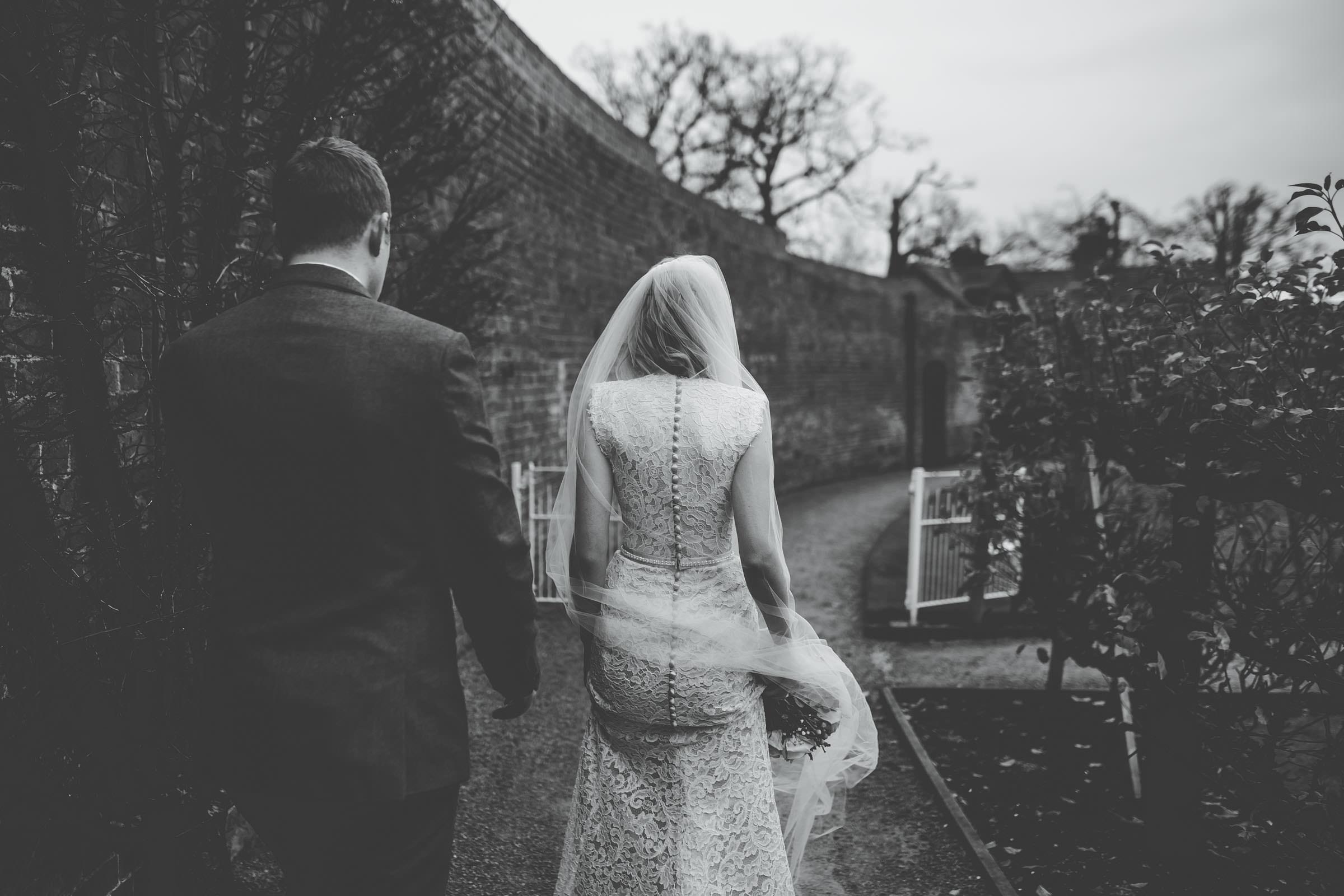 creative black and white wedding photography Shropshire wedding