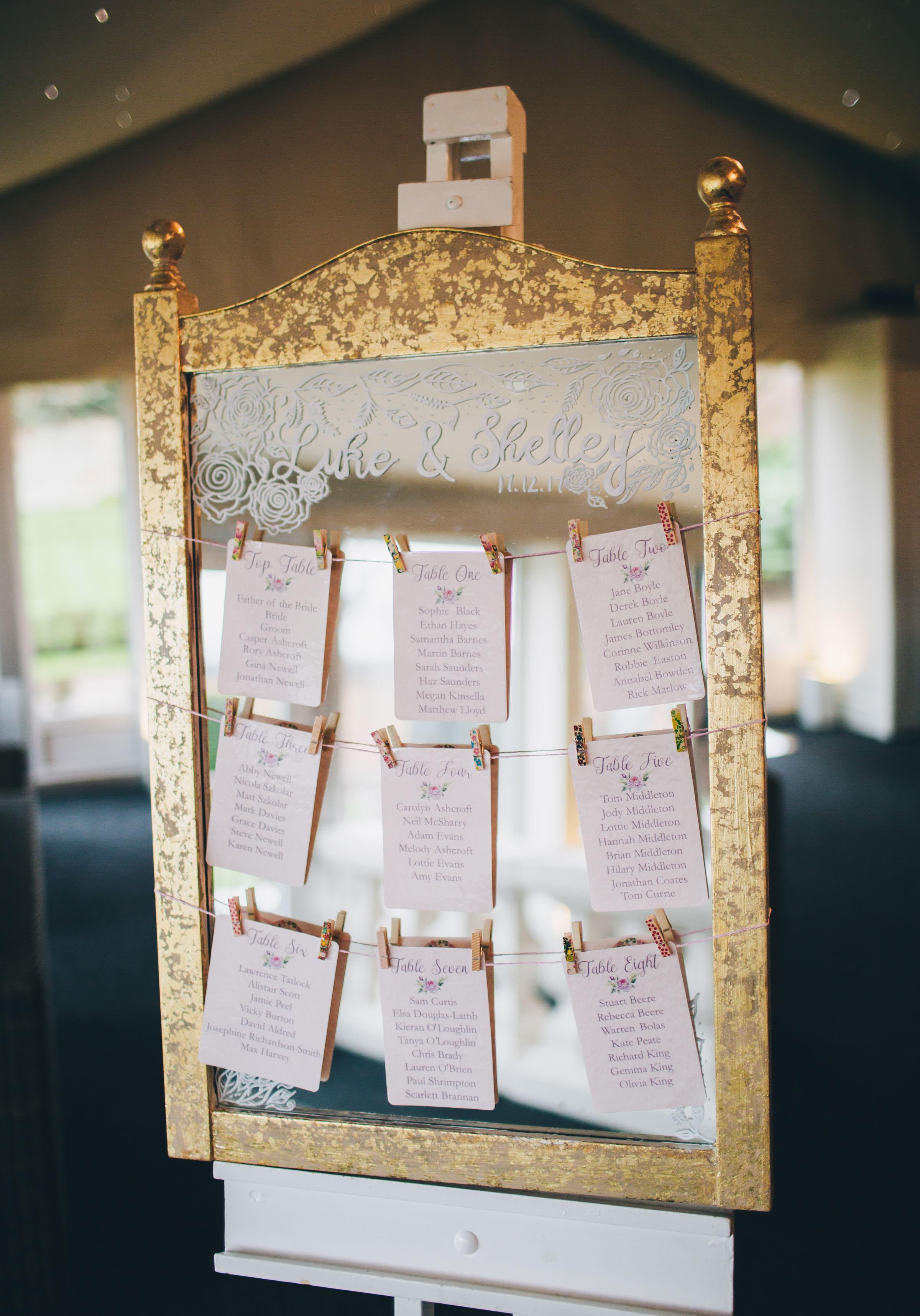 handmade table settings - Combermere Abbey wedding