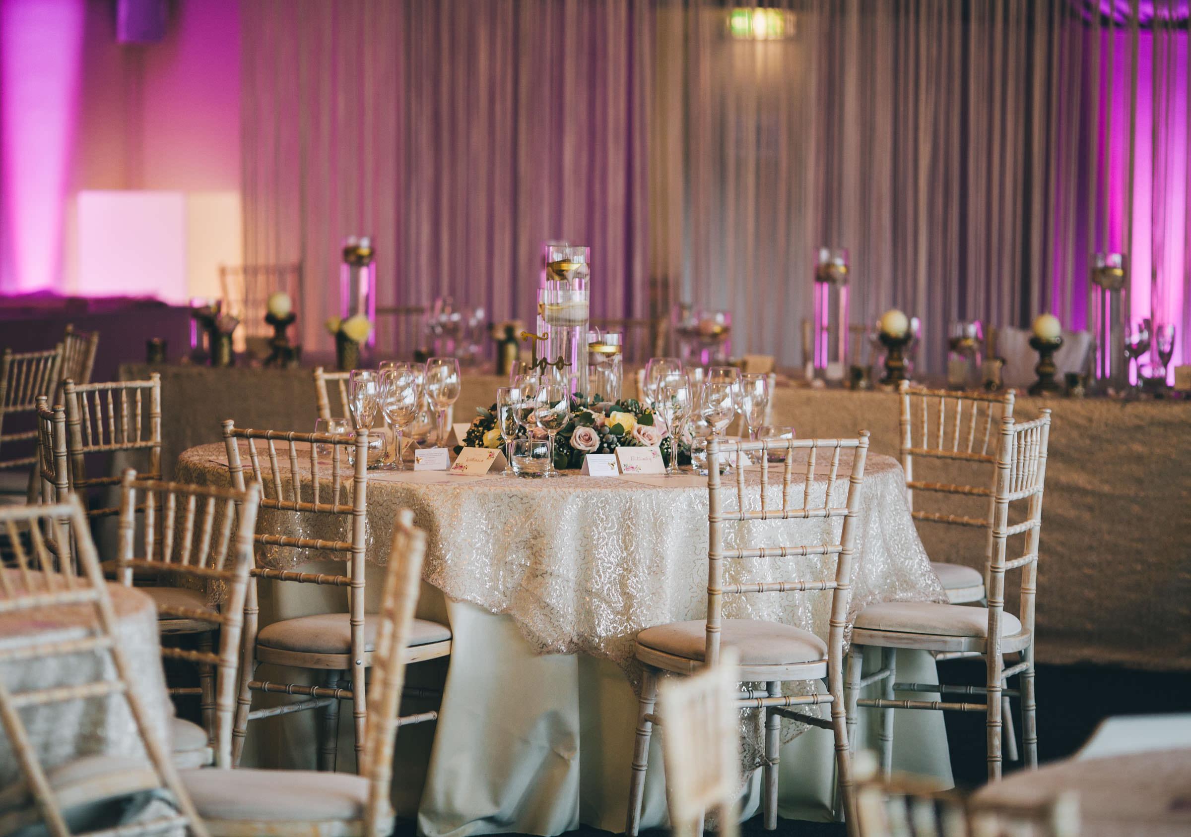 sparkly winter wedding decor