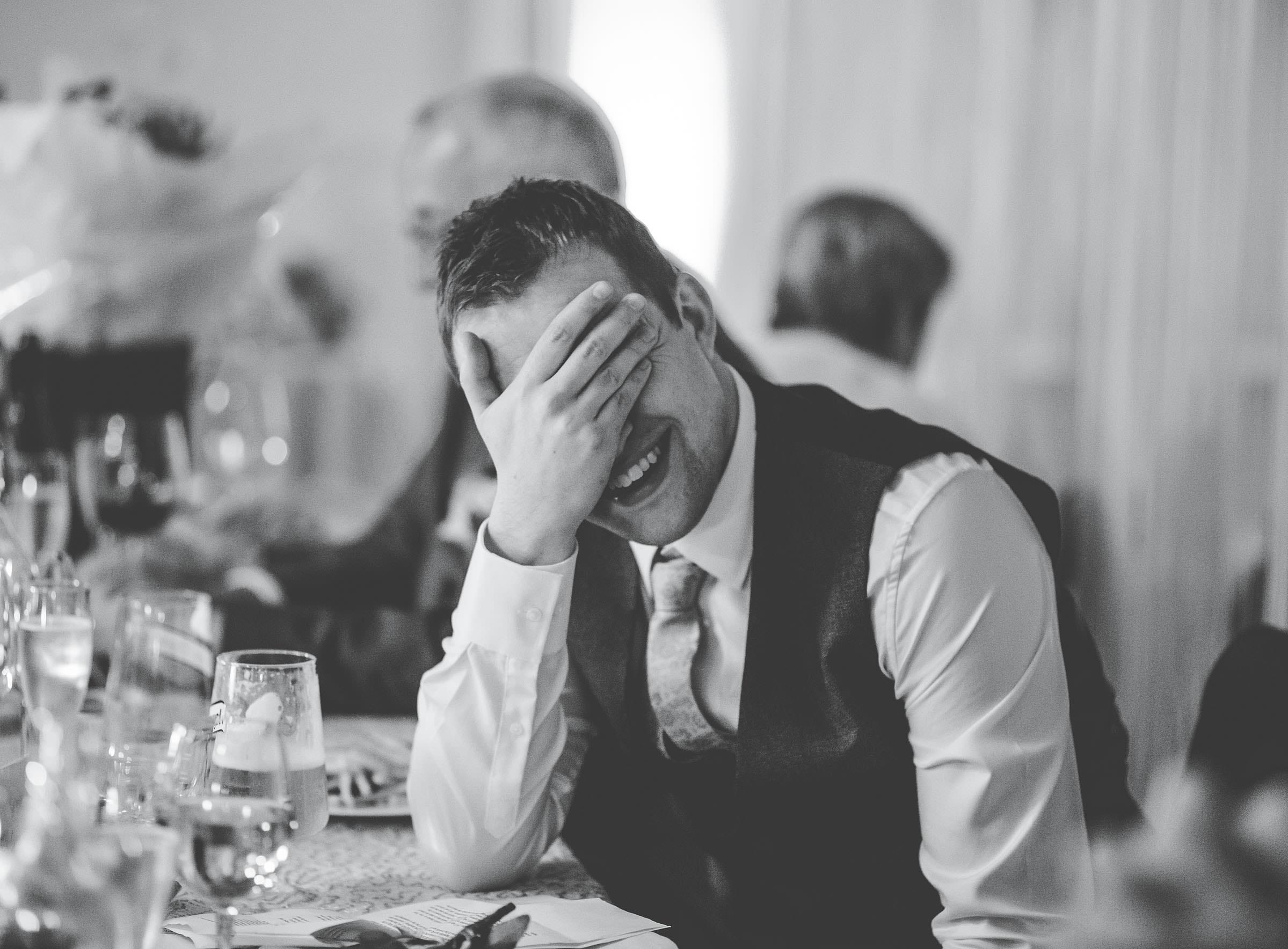 reaction to speeches - natural wedding photographer