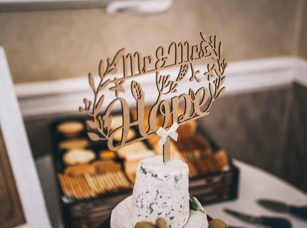 The cheese wedding cake. Winter wedding.