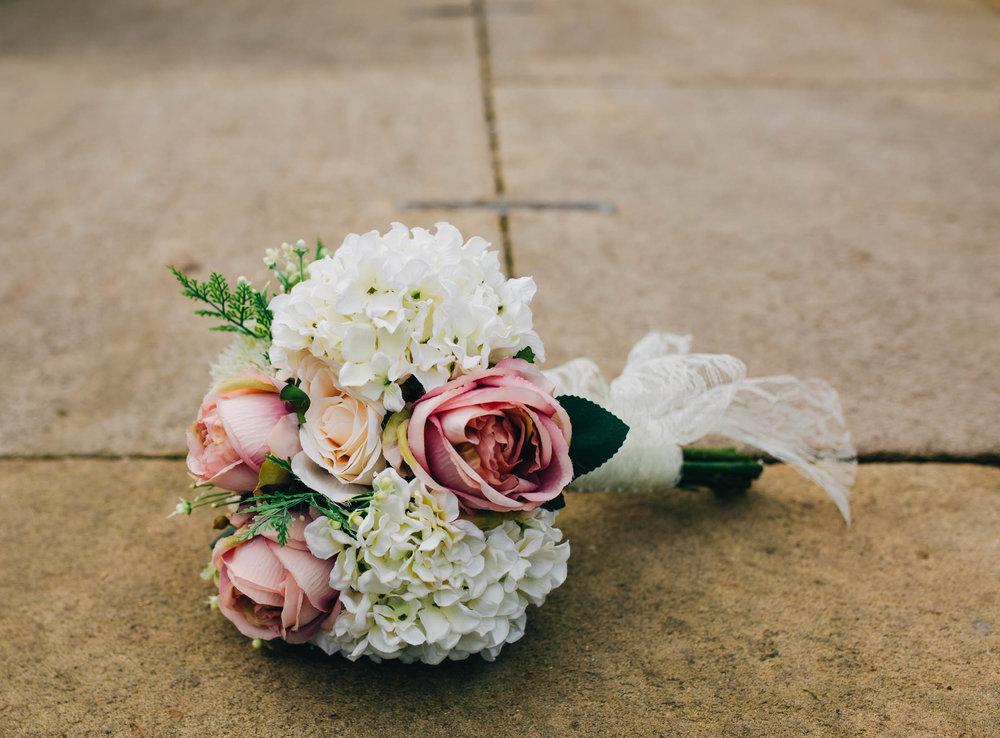 Brides bouquet. Summer wedding at Mitton Hall.