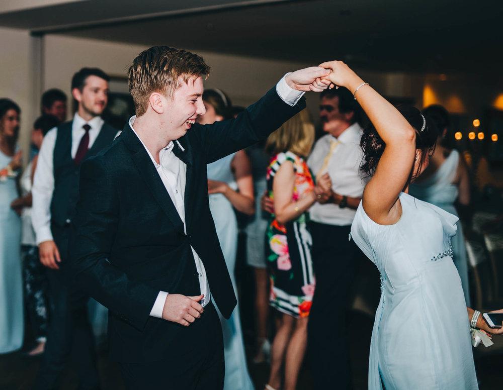 Dancing of the dance floor.