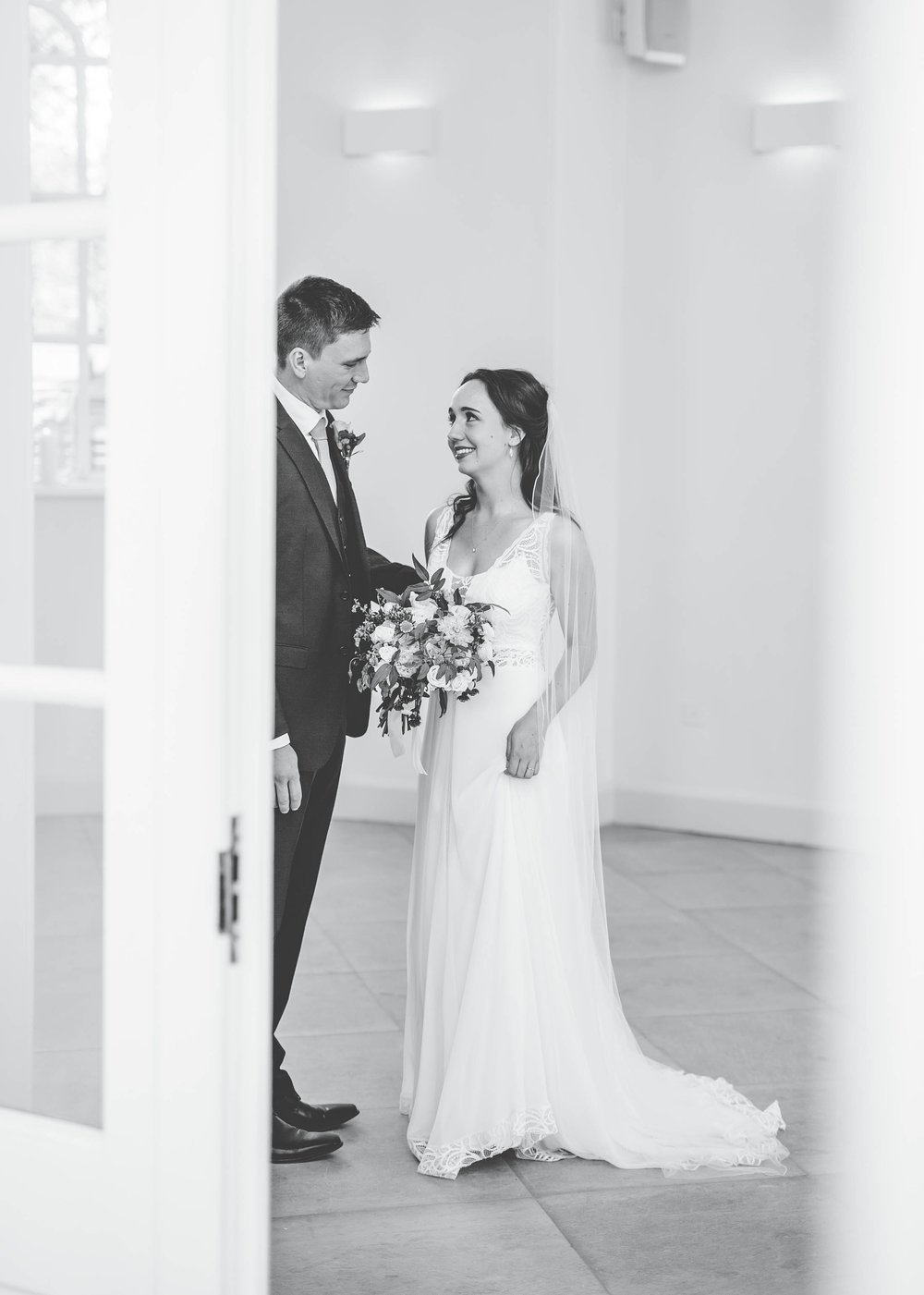 quiet moment between the bride and groom - documentary wedding photography north west