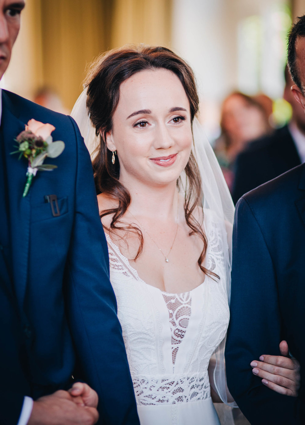 beautiful smiling bride - natural wedding photographer north west