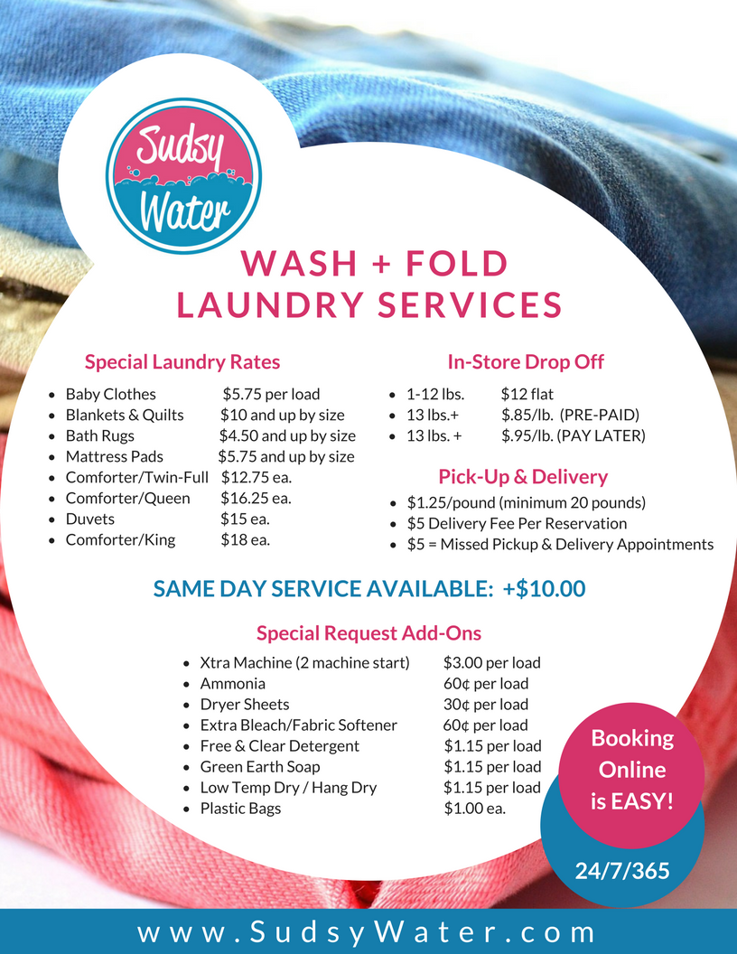 Laundry Dry Cleaning Rates Wash Amp Fold Pick Up And
