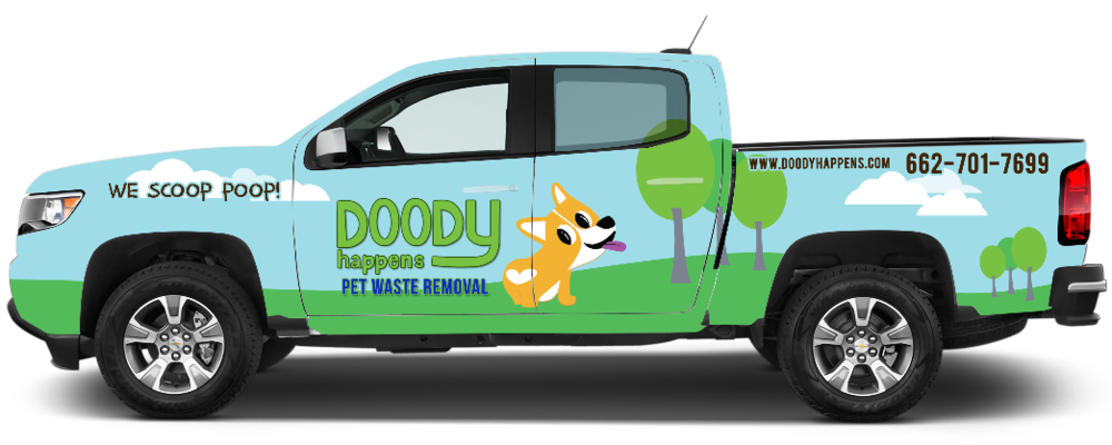 Look for our DOODY TRUCKS servicing your community!