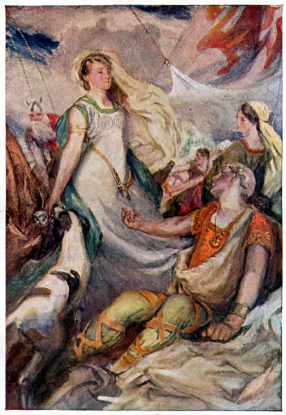More details TRISTREM AND YSONDE - Illustration from Legends & Romances of Brittany by Lewis Spence, illustrated by W. Otway Cannell