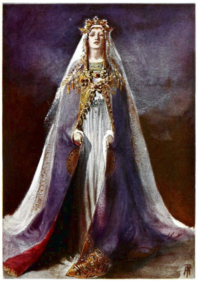 Isolde - illustration by Percy Anderson for Costume Fanciful, Historical and Theatrical, 1906
