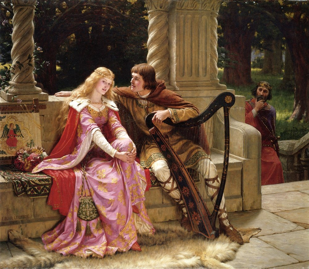 Tristan and Iseult as depicted by Edmund Leighton (1853–1922)