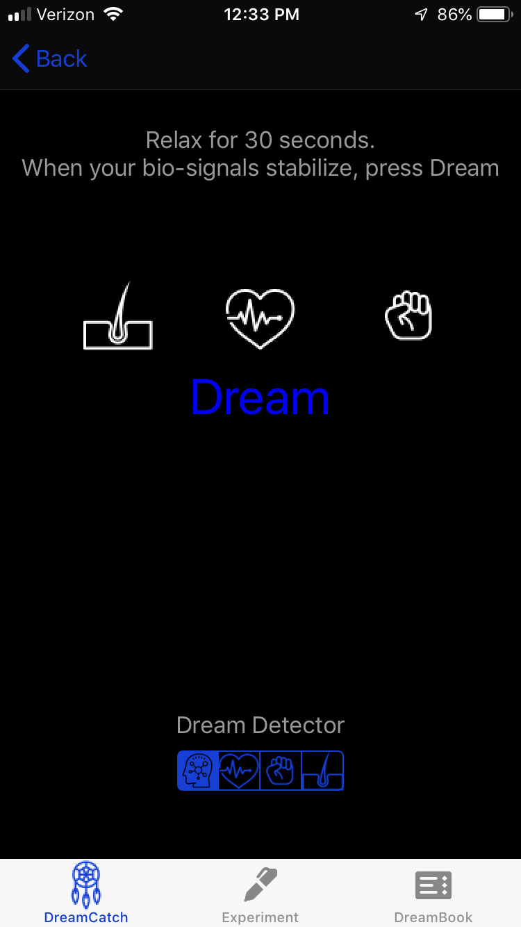 If you don't have the device - You still press dream when you are ready to sleep, you just won't have any biosignals displayed
