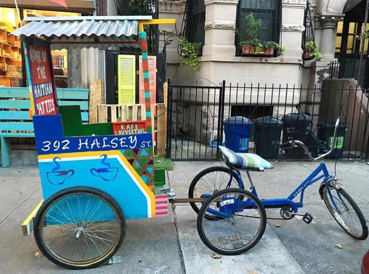 Art on Wheels - I was commissioned by Kafe Louverture (a haitian cafe in Bedstuy) to design their version of a Haitian