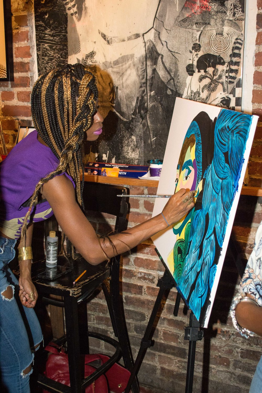 Live Painting - On Sept. 23rd Tiffany B Chanel live painted at Chaunna Michole photo exhibit called