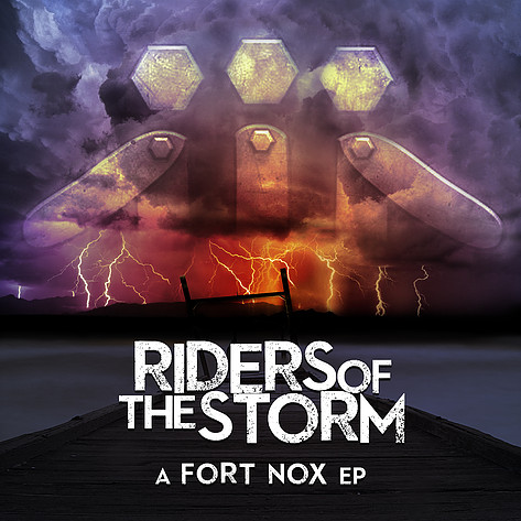 "Album cover design for ""Riders of the Storm EP"" released in 2014."