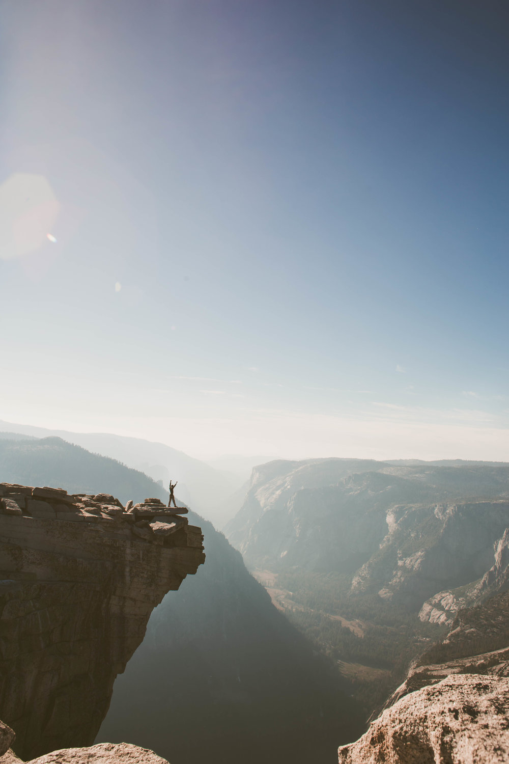 Rich on the Half Dome diving board