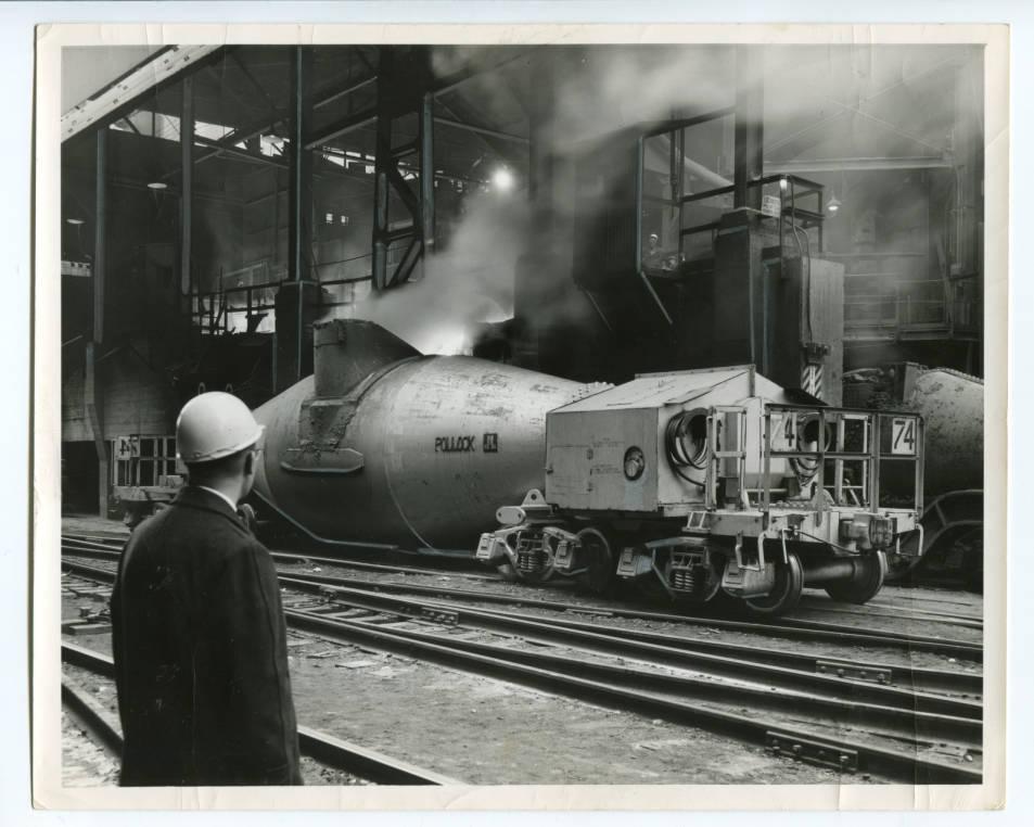1960 - Pollock hot metal car at J&L steel Pittsburgh works.
